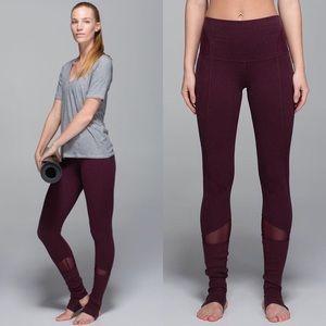 HTF LULULEMON | Devi Mesh yoga legging pants 12